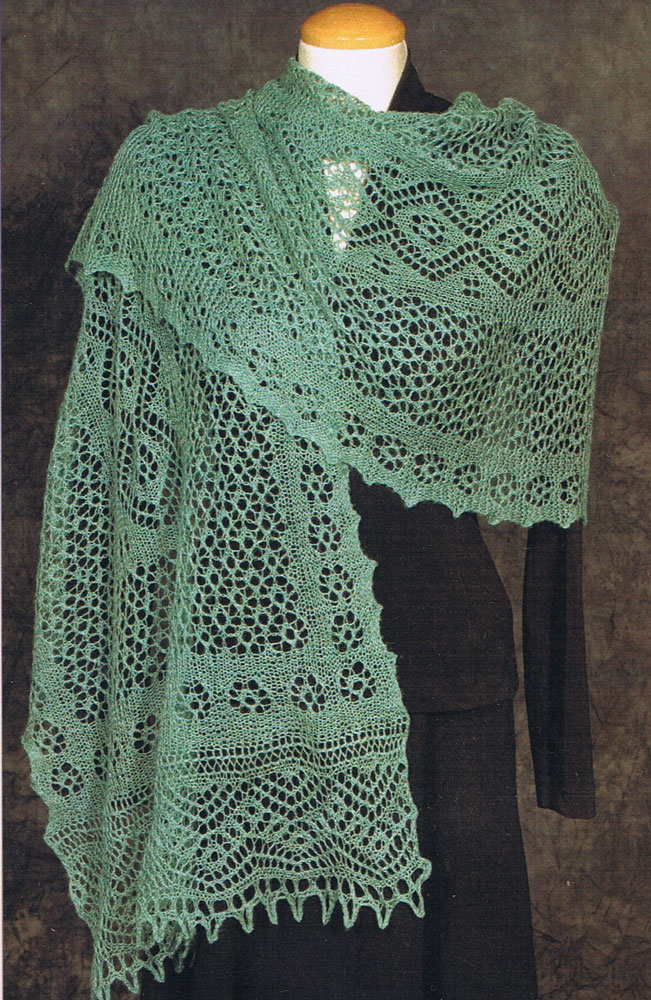 Knitting Pattern Central Lace Shawls : Fiddlesticks patterns for lace knitting
